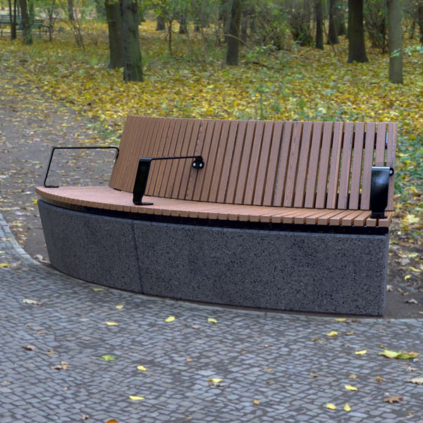 Wandin Convex Curved Timber Seat with Back