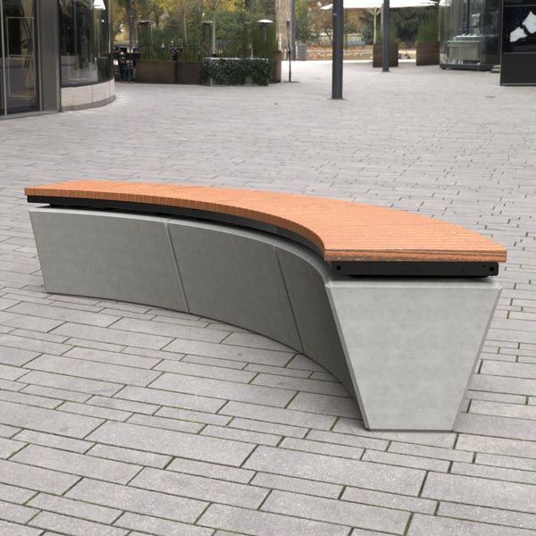 Wandin Curved Timber Bench Seat