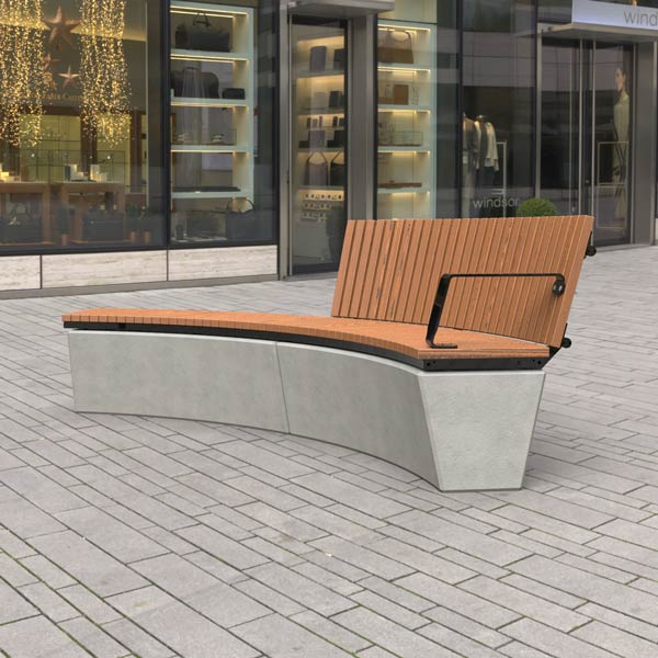 Wandin Curved Bench Seat