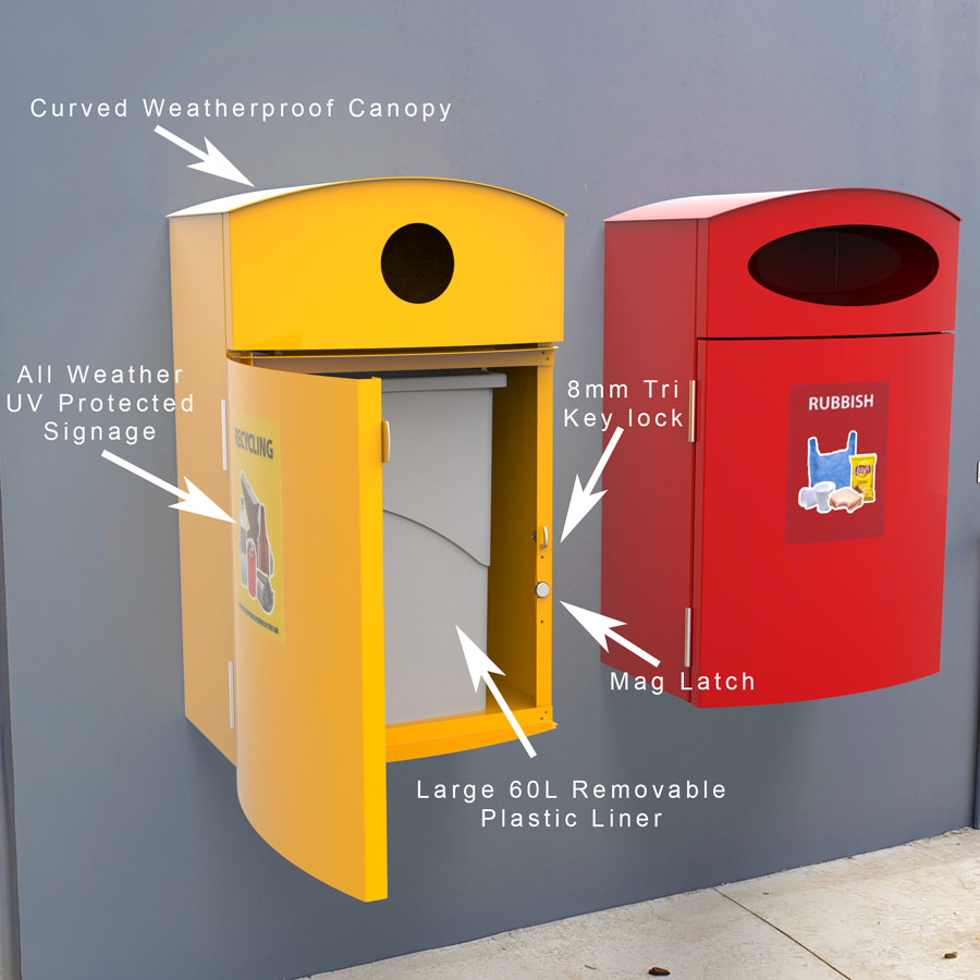Wall Mounted Bin Features