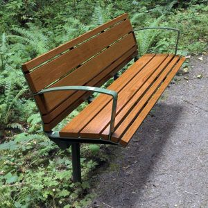 Airlie Park Seat with Back and armrests