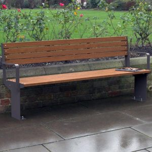 Fuse Park Seat with Back