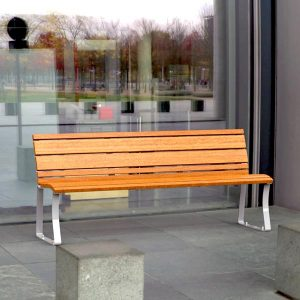 Airlie freestanding seat with back