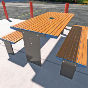 Commercial Outdoor Table Setting