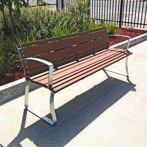 Park Seat Enviroslat Battens and Galvanised Frames