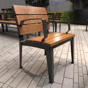 Glenelg Single Seat with back
