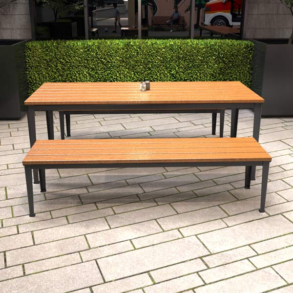 Glenelg Wide Bench and Table