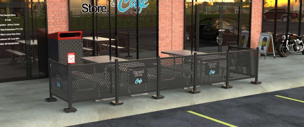 Aluminium Cafe Barrier