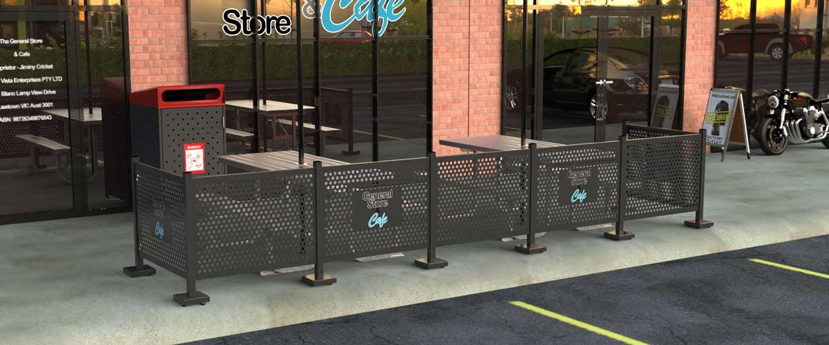Aluminium Cafe Barrier