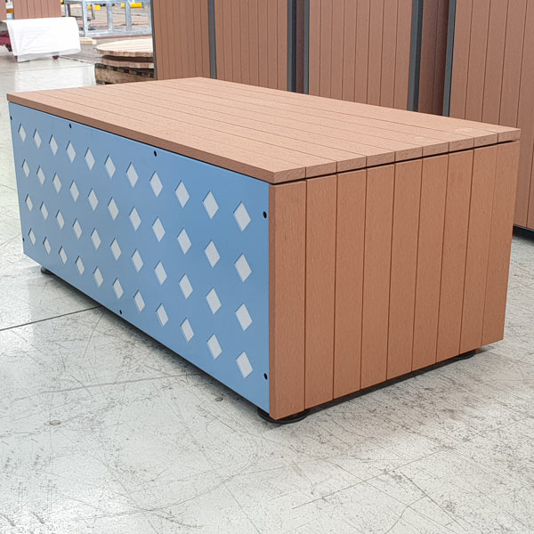 Enviroslat clad semi portable bench