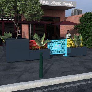Hamilton Planter Barrier