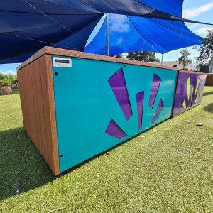 Semi-Portable outdoor benches, Enviroslat battens