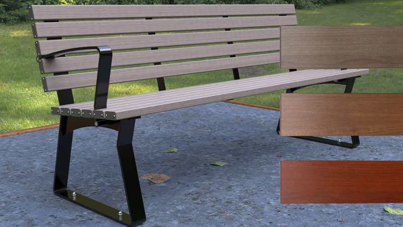 Kiama Seat with Timber look Alpine Ash and samples