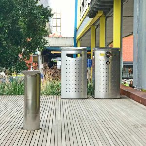 Monash University Stainless Steel Bin Surround