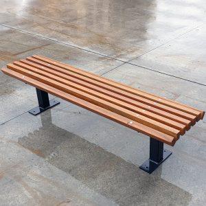 Knox Park Bench, timber battens