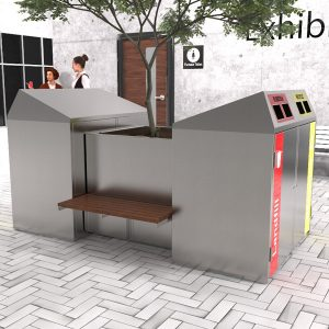 Bin Enclosures and Planter with seats