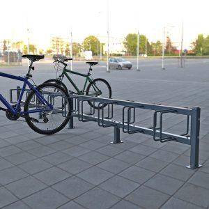 Dual double sided 5 bay bike racks