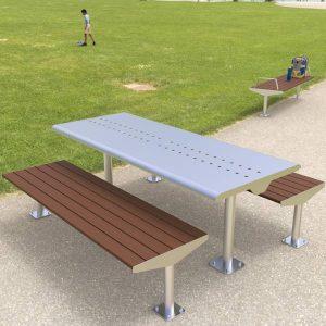 Low maintenance picnic setting