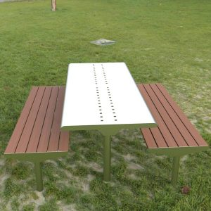 Picnic table with easy cleaning surfaces