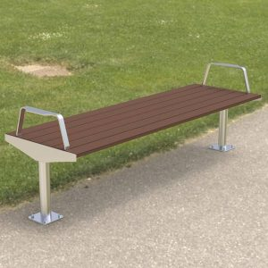 Bolt down, stainless steel and Modwood Park bench