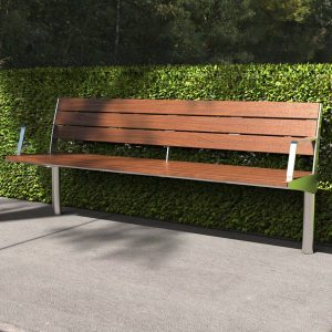 Modwood seat with stainless steel
