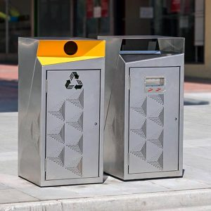 Recycle and Rubbish bins for Eastland