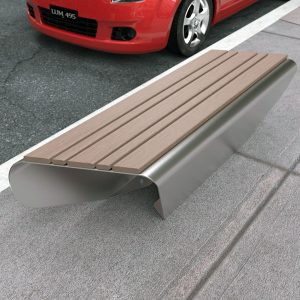 Modern bench made with stainless steel