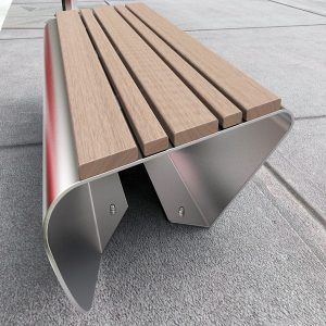 Composite timber battens on stainless steel