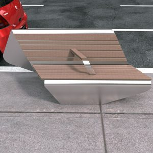 Stainless steel Seat with back