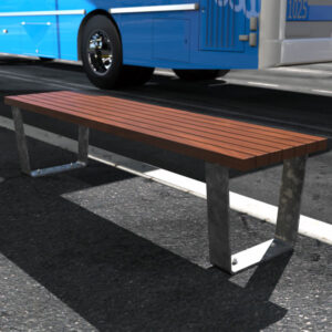 Park Bench with Galvanised Mild steel and spotted gum